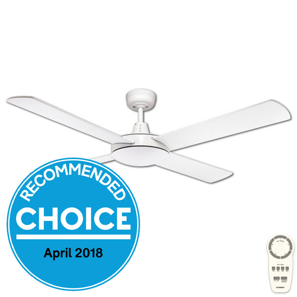 Urban 2 DC Ceiling Fan with Remote by Fanco - White 52