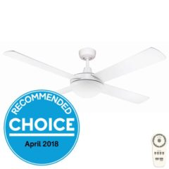 fanco white dc ceiling fan with light