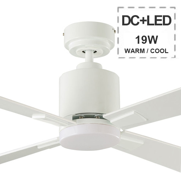 Quantum DC Ceiling Fan u0026 Remote by Aeroblade - White 52u0026quot;