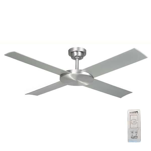 revolution 2 dc ceiling fan with remote brushed