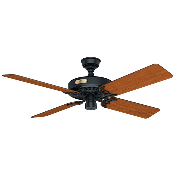 Hunter original ceiling fan black traditional hunter original ceiling fan aloadofball Gallery