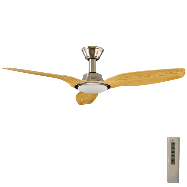 Trident dc ceiling fan with light satin nickel with pine blades 56 trident dc ceiling fan aloadofball Gallery