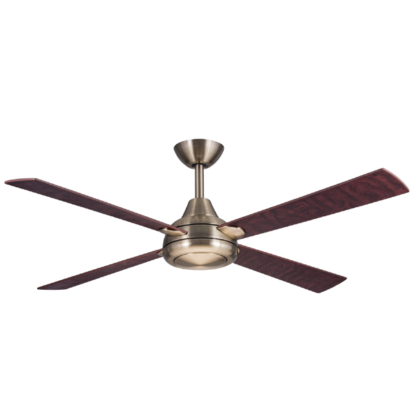 Hunter Pacific Aurora 3 Ceiling Fan In Antique Brass 52