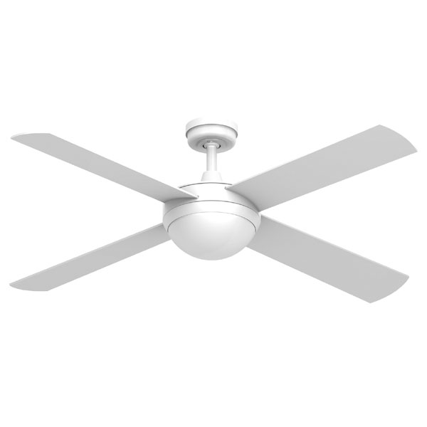 Intercept Ceiling Fan With Light E27 Fitting White