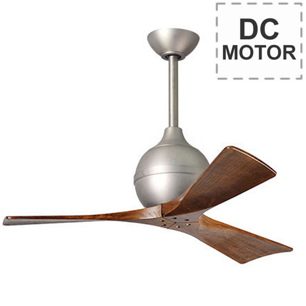 Ceiling Fan With Pedestal : Atlas irene ceiling fan with remote control brushed