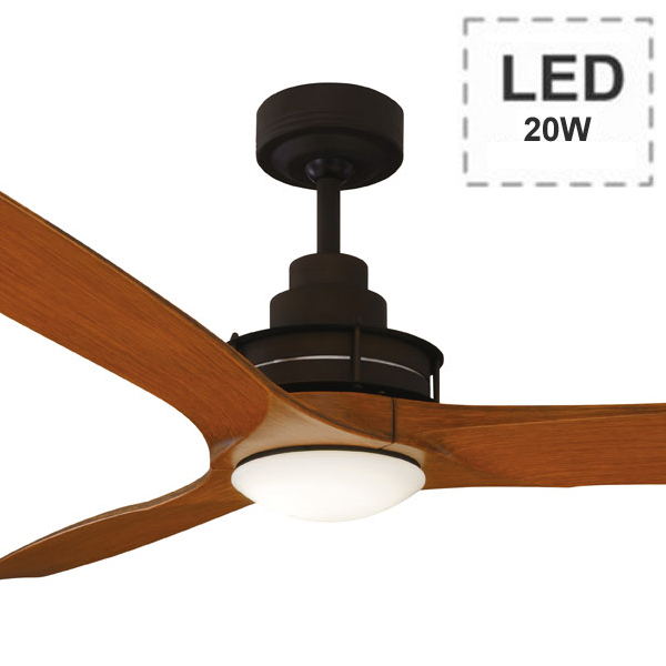 Flinders Ceiling Fan Led Amp Wall Control 56 Quot Rubbed Bronze