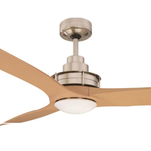 Flinders Ceiling Fan LED u0026 Wall Control 56u0026quot; Brushed Chrome