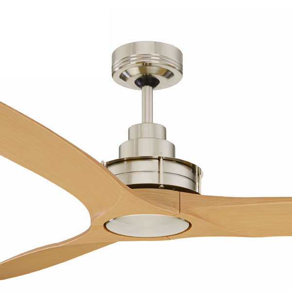 Flinders Ceiling Fan 56 Brushed Chrome Motor Maple Blades By Mercator