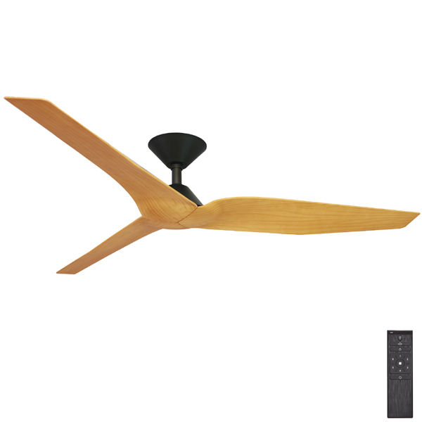 Outdoor ceiling fans outdoor cooling in alfresco patio areas infinity dc ceiling fan with remote by fanco black with timber look blades 54 mozeypictures Image collections