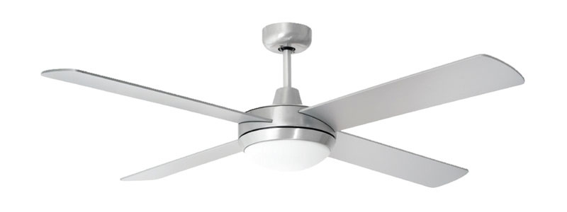 Prestige ceiling fan by airmate brushed aluminium 52 for Prestige ceiling fans