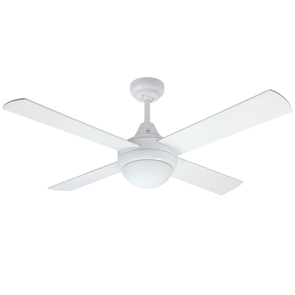 Mercator glendale ceiling fan in white with light 48 glendale ceiling fan with light by mercator swarovskicordoba Choice Image