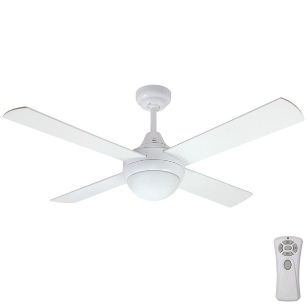 Mercator glendale ceiling fan with light and remote in white 48 mercator glendale mozeypictures Images
