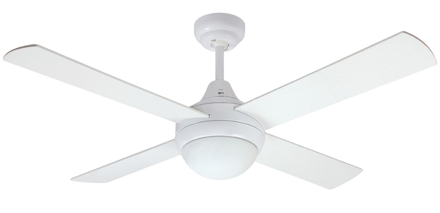 Mercator Glendale Ceiling Fan With Light And Remote In White 48 Quot