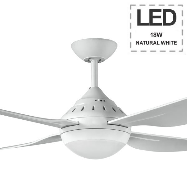 Harmony Ii Ceiling Fan In White Led Amp Wall Control 48 Quot