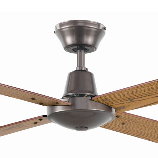 Austin Ceiling Fan 48u0026quot; by Brilliant - Silver with Oak Blades