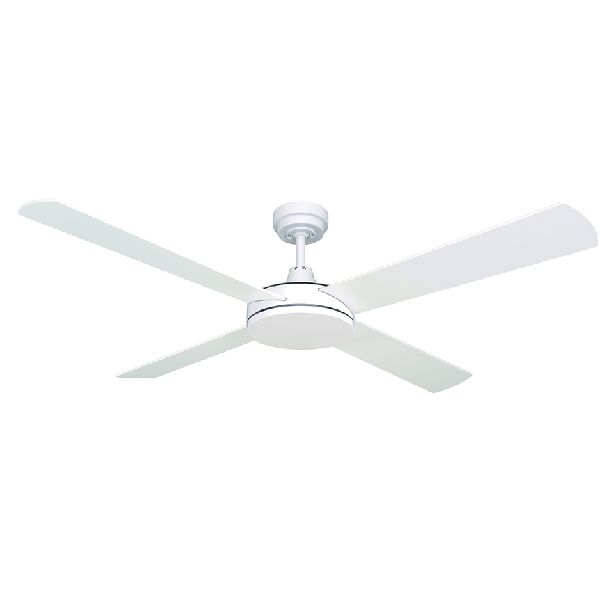 Mercator luna ceiling fan 52 in white modern slim fan luna 52 ceiling fan by mercator white mozeypictures Image collections