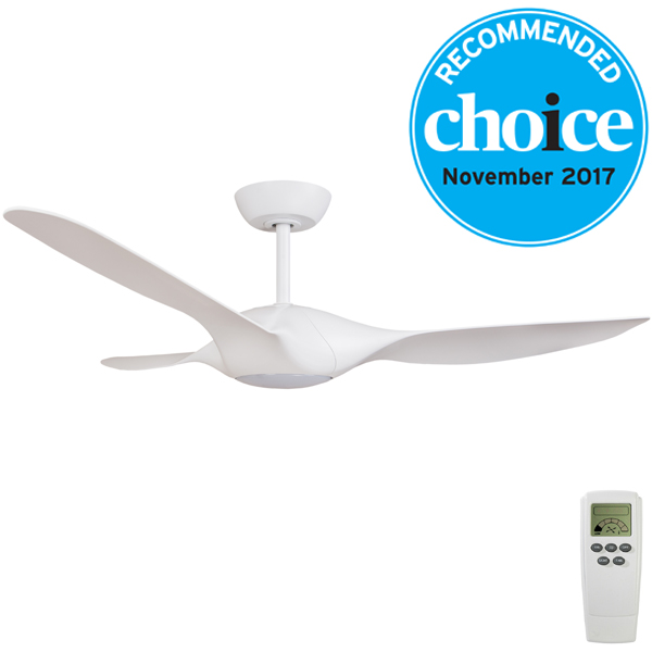 Origin Dc Ceiling Fan With Remote Led Light By Fanco White 56