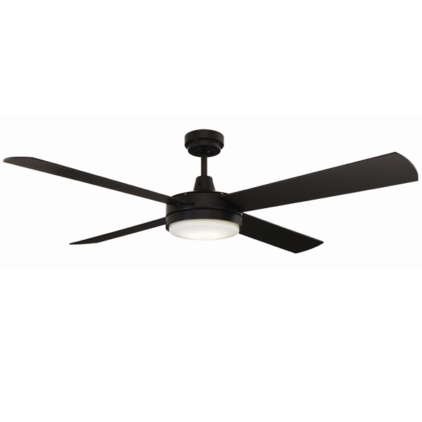 Black mercator 52 inch luna ceiling fan with led light luna 52 ceiling fan with led light by mercator black aloadofball Gallery