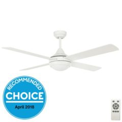 white eco silent ceiling fan