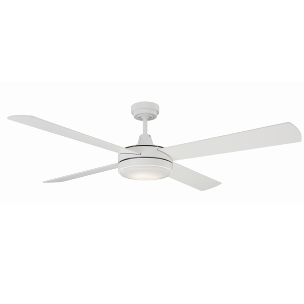 Mercator luna ceiling fan 52 with led light in white luna 52 ceiling fan with led light by mercator white aloadofball Gallery