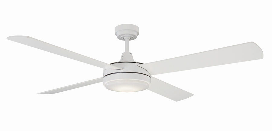 Mercator luna ceiling fan 52 with led light in white luna ceiling fan mozeypictures Gallery