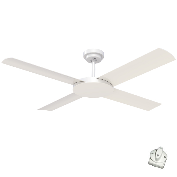 Revolution 3 ceiling fan with wall control white fan 52 revolution 3 ceiling fan with wall control mozeypictures Images