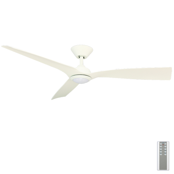 Trinidad iii dc ceiling fan with led light remote dc motor 52 white trinidad iii dc ceiling fan with led light remote 52 white mozeypictures Images