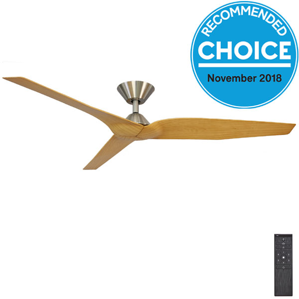 Fanco Infinity I Dc Ceiling Fan Brushed Chrome Amp Timber