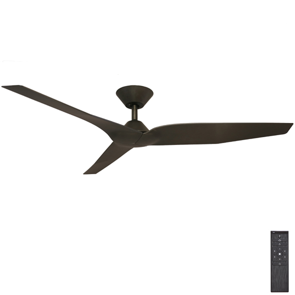 Infinity I Dc Ceiling Fan With Remote By Fanco Black 54