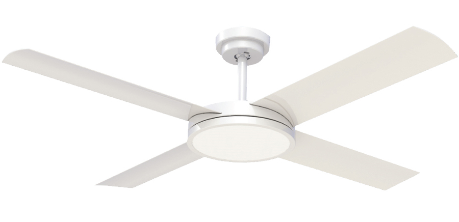 Revolution 3 ceiling fan with led light white 52 revolution 3 ceiling fan mozeypictures Gallery