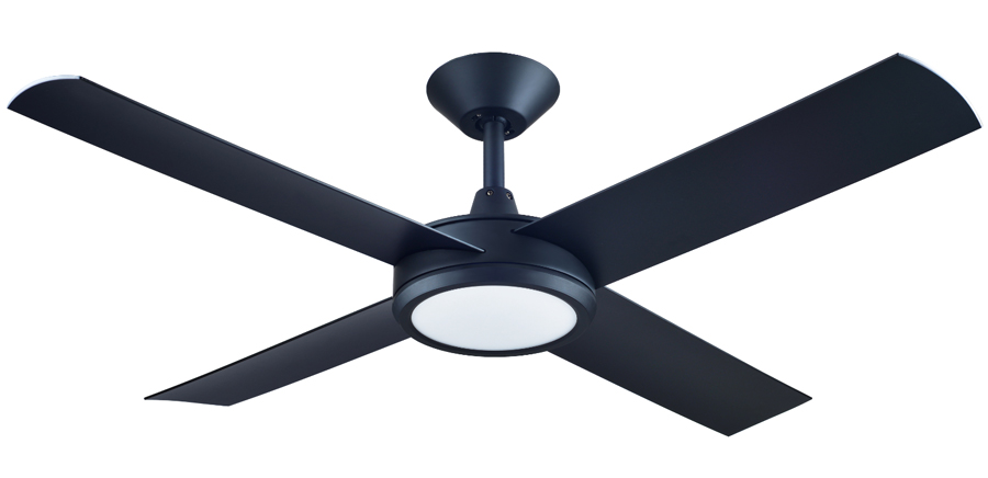 Concept 3 Ceiling Fan With Led Light Matte Black 52 Quot By