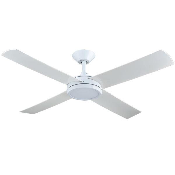 Concept 3 ceiling fan with led light white 52 by hunter pacific concept 3 ceiling fan aloadofball Choice Image