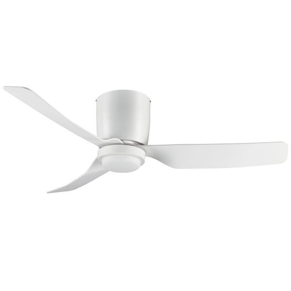 Hugger low profile ceiling fan by fanco with led light white 48 hugger low profile ceiling fan aloadofball Image collections