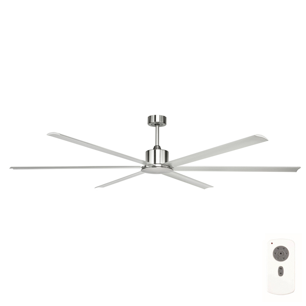 Hercules Extra Large DC Ceiling Fan By Brilliant U2013 Satin Nickel 84u2033
