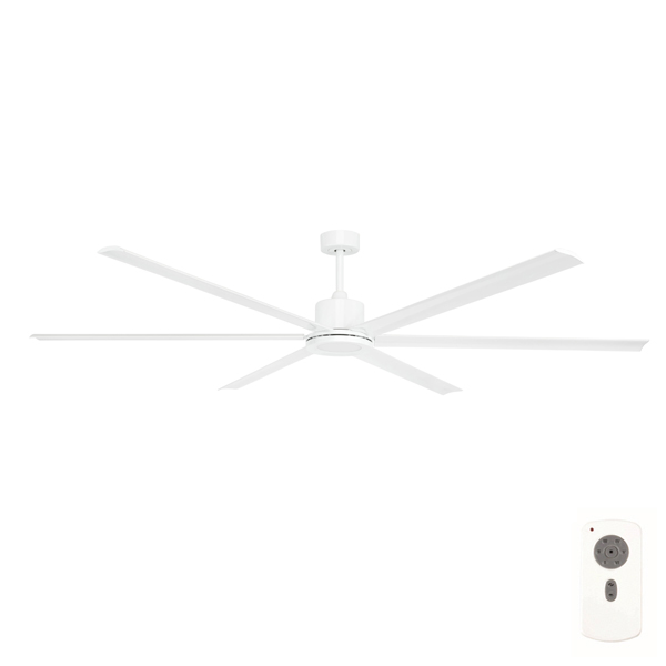 Hercules Extra Large Dc Ceiling Fan With Led Light By Brilliant White 84