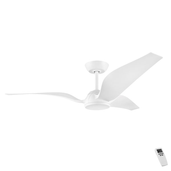 Seagull dc ceiling fan with remote by eglo in white 56 ceiling seagull dc ceiling fan aloadofball Images