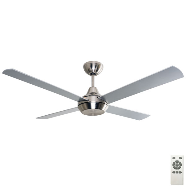 "Mercator Cardiff DC Ceiling Fan W/ Remote 52"" In Brushed"