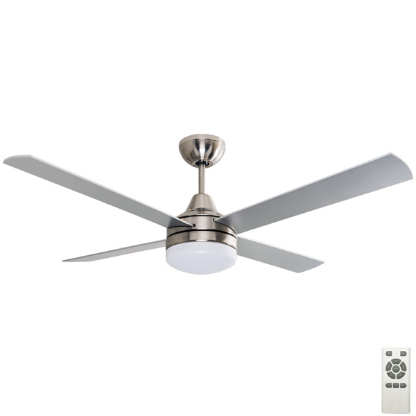 "Mercator Cardiff DC Ceiling Fan W/ Light & Remote 52"" In"