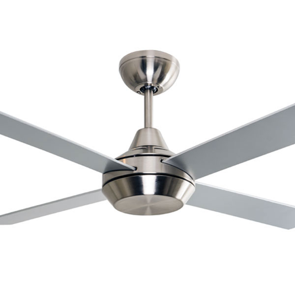 Mercator Cardiff Dc Ceiling Fan W Remote 52 Quot In Brushed Chrome
