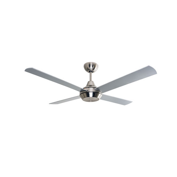 """Mercator Cardiff DC Ceiling Fan W/ Remote 52"""" In Brushed"""