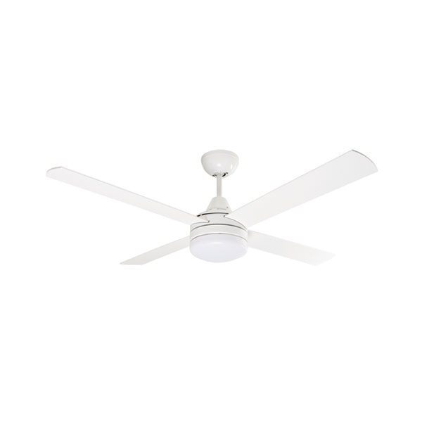 "Mercator Cardiff DC Ceiling Fan W/ Light & Remote 52"" In White"