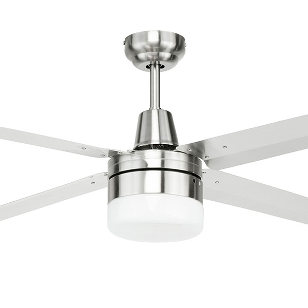 Brilliant Atrium 316 Stainless Steel Ceiling Fan With Light 52 Inch