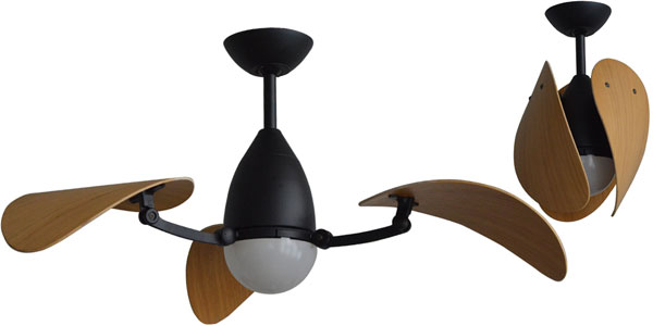 Vampire Ceiling Fan With Led Light Matte Black With