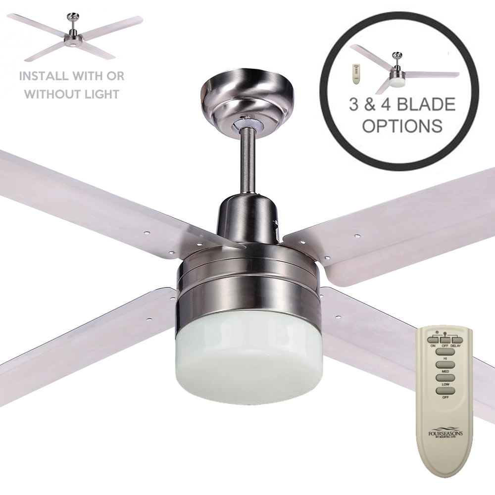 Martec Trisera Ceiling Fan with Light & Remote - 56
