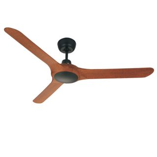Spyda ceiling fan black with teak blades