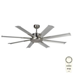 Albatross Mini DC Ceiling Fan Brushed Nickel