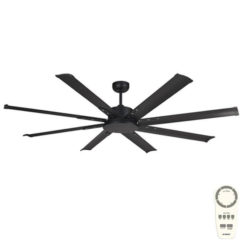 Albatross Mini DC Ceiling Fan with Remote Black