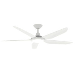 white stotm dc ceiling fan with light